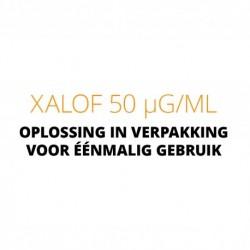 Xalof 50 µg/ml Oplossing in verpakking voor éénmalig gebruik